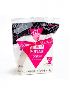 Filtros de papel para Cono V60, 1-2 tazas
