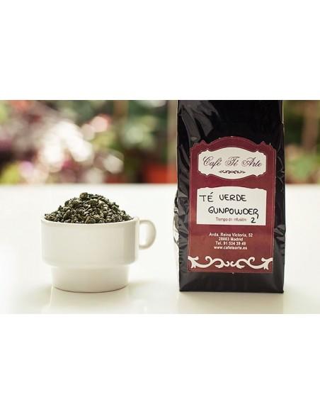 detalle té verde gunpowder