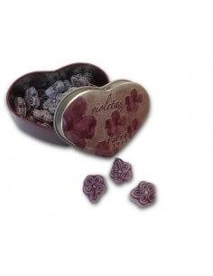Lata corazón Caramelos de Violetas