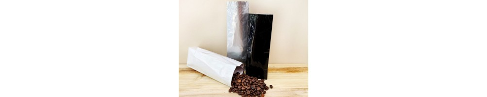 Bolsas para café. Bolsas para envasar café. Compra pocas cantidades.